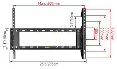 Кронштейн для телевизора Barkan E400.B - габаритные размеры