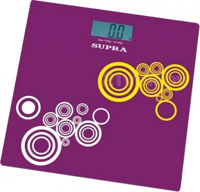 Напольные весы электронные Supra BSS-2000 (Purple) - общий вид