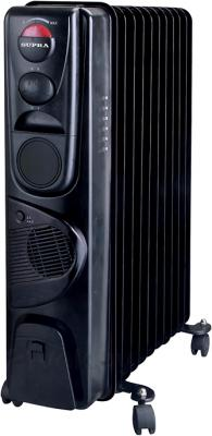 Масляный радиатор Supra ORS-11F-2N (Black) - общий вид