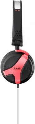Наушники AKG K518 (черно-красный) - вид сбоку