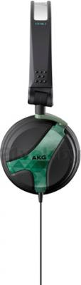 Наушники AKG K518 (черно-оливковый) - вид сбоку