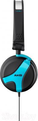 Наушники AKG K518 (черно-синий) - вид сбоку
