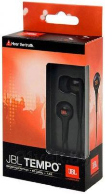 Наушники JBL Tempo In-Ear J01A (Black) - упаковка