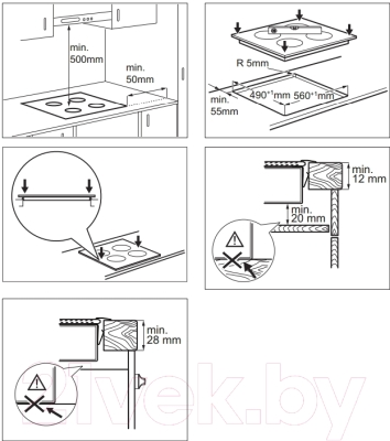 Электрическая варочная панель Electrolux EHF96240XK