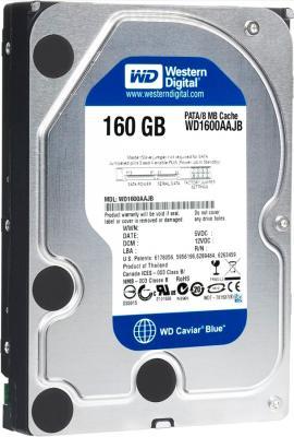Жесткий диск Western Digital Caviar 160 Gb (WD1600AAJB) - вид сверху