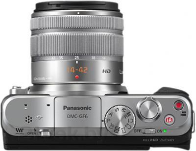 Беззеркальный фотоаппарат Panasonic Lumix DMC-GF6KEE - вид сверху