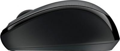 Мышь Microsoft Wireless Mobile Mouse 3500 USB (черно-серый) - вид сбоку