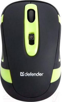 Мышь Defender Magnifico MM-505 Nano / 52505 (черно-зеленый) - вид сверху