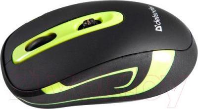 Мышь Defender Magnifico MM-505 Nano / 52505 (черно-зеленый) - вид сбоку