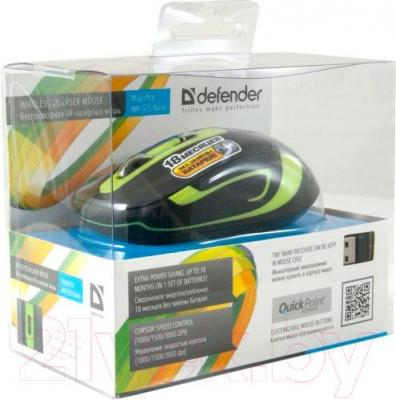 Мышь Defender Magnifico MM-505 Nano / 52505 (черно-зеленый) - упаковка