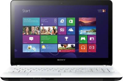 Ноутбук Sony Vaio SVF1521R1RW - фронтальный вид