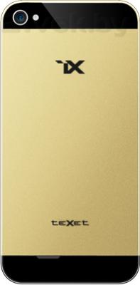 Смартфон TeXet iX TM-4772 (Black) - задняя панель золотого цвета