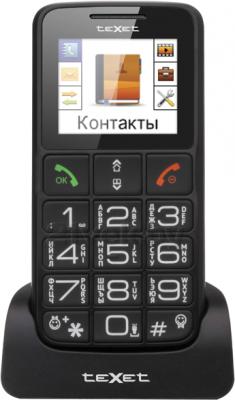 Мобильный телефон TeXet TM-B112 (серый) - на подставке