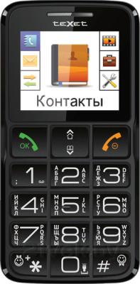 Мобильный телефон TeXet TM-B112 (серый) - общий вид