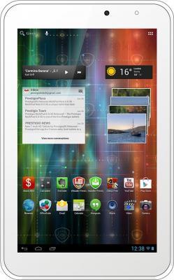 Планшет Prestigio MultiPad 2 Pro Duo 7.0 8GB (PMP5670C_WH_DUO) - фронтальный вид (вертикально)