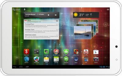 Планшет Prestigio MultiPad 2 Pro Duo 7.0 8GB (PMP5670C_WH_DUO) - фронтальный вид (горизонтально)