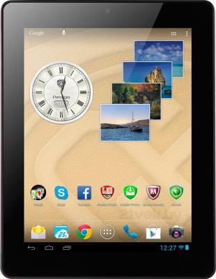 Планшет Prestigio MultiPad 4 Ultra Quad 8.0 3G 16GB 3G (PMP7280D3G_BK_QUAD) - фронтальный вид (вертикальный)