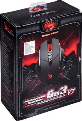Мышь A4Tech Bloody V7 (черный) - упаковка
