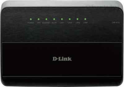 Беспроводной маршрутизатор D-Link DIR-615/K/R1A - фронтальный вид