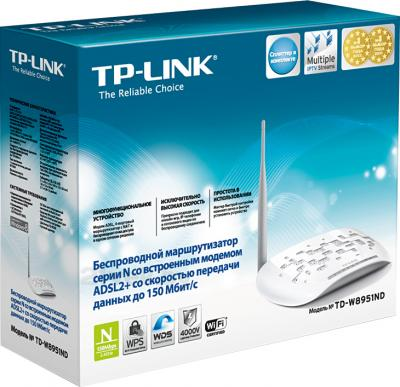 Беспроводной маршрутизатор TP-Link TD-W8951ND - коробка