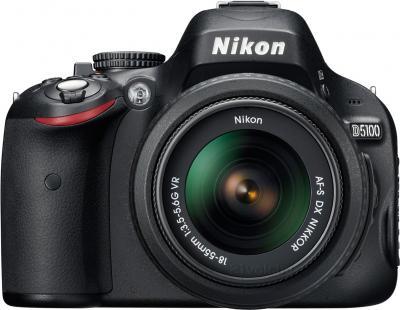 Зеркальный фотоаппарат Nikon D5100 Double Kit 18-55mm VR + 55-200mm VR - вид спереди