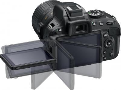 Зеркальный фотоаппарат Nikon D5100 Double Kit 18-55mm VR + 55-200mm VR - поворотный экран