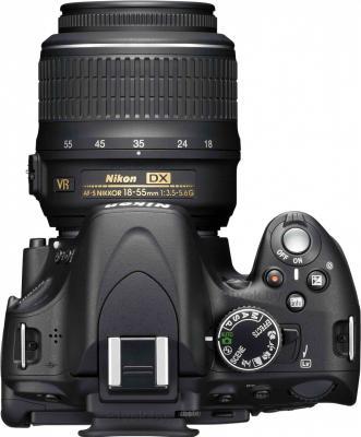Зеркальный фотоаппарат Nikon D5100 Double Kit 18-55mm VR + 55-200mm VR - вид сверху