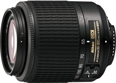 Зеркальный фотоаппарат Nikon D5100 Double Kit 18-55mm VR + 55-200mm VR - объектив 55-200mm f/4-5.6
