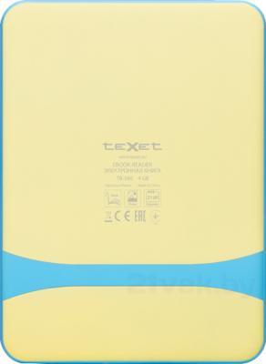 Электронная книга TeXet TB-566 (Blue) - вид сзади