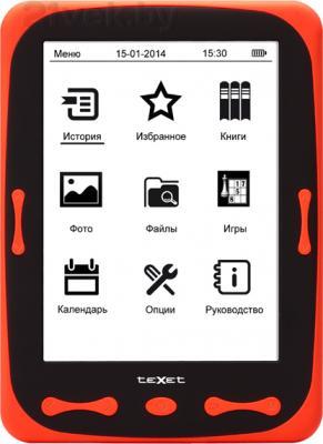 Электронная книга TeXet TB-566 (Red) - фронтальный вид