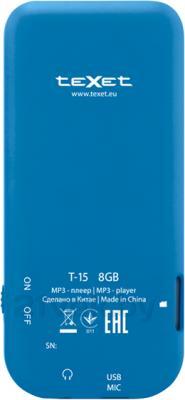 MP3-плеер TeXet T-15 (8GB, синий) - вид сзади
