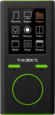 MP3-плеер TeXet T-30 (8Gb, зеленый) - вид спереди
