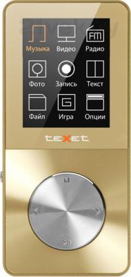 MP3-плеер TeXet T-60 (8GB, золотой) - вид спереди