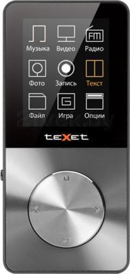 MP3-плеер TeXet T-60 (8GB, серый) - вид спереди
