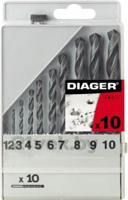 Набор сверл Diager HSS Standard 752С (10 предметов) - общий вид