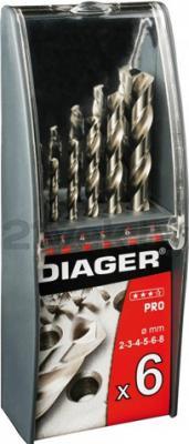 Набор сверл Diager HSSPro 700C (6 предметов) - общий вид