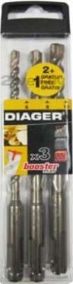 Набор сверл Diager Booster 114K (3 предмета) - общий вид
