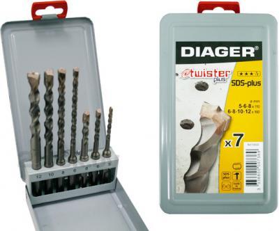 Набор сверл Diager Twister 105D (7 предметов) - общий вид