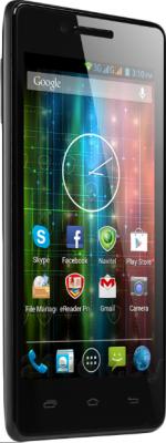 Смартфон Prestigio MultiPhone 5450 Duo (черный) - полубоком