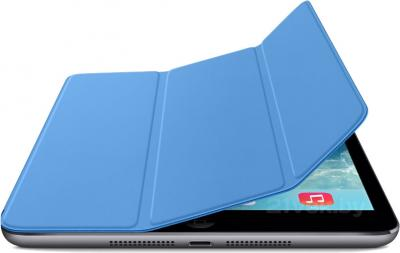 Чехол для планшета Apple iPad Mini Smart Cover MF060ZM/A (синий) - с черным айпадом