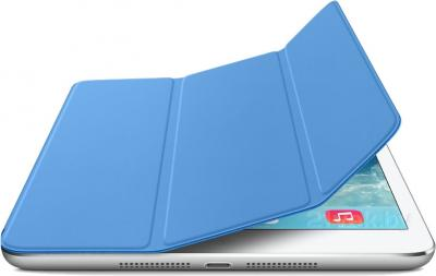 Чехол для планшета Apple iPad Air Smart Cover MF054ZM/A (Blue) - с белым айпадом