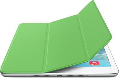 Чехол для планшета Apple iPad Air Smart Cover MF056ZM/A (Green) - с белым айпадом