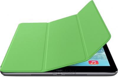 Чехол для планшета Apple iPad Air Smart Cover MF056ZM/A (Green) - с черным айпадом