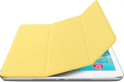 Чехол для планшета Apple iPad Air Smart Cover MF057ZM/A (Yellow) - с белым айпадом