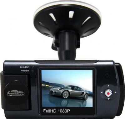 Автомобильный видеорегистратор Видеосвидетель 3404 FHD - вид сзади