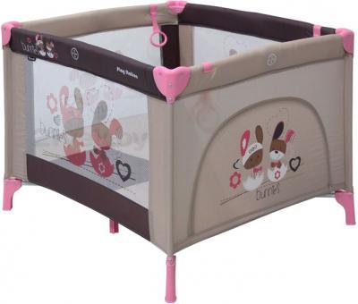 Игровой манеж Lorelli Play Station (Beige Bunnies) - общий вид