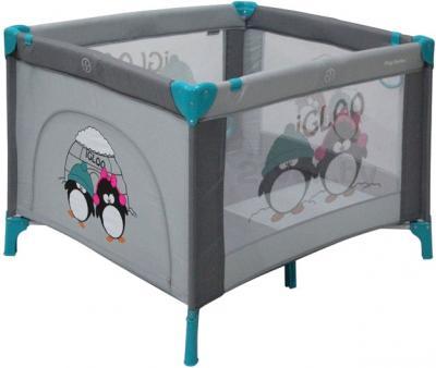 Игровой манеж Lorelli Play Station (Gray Green Igloo) - общий вид