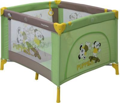 Игровой манеж Lorelli Play Station (Green Beige Puppies) - общий вид