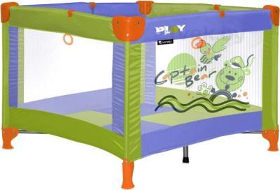 Игровой манеж Lorelli Play Station (Green Captain Bear) - общий вид