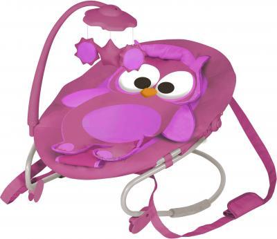 Детский шезлонг Lorelli Joy (Pink Owl) - общий вид